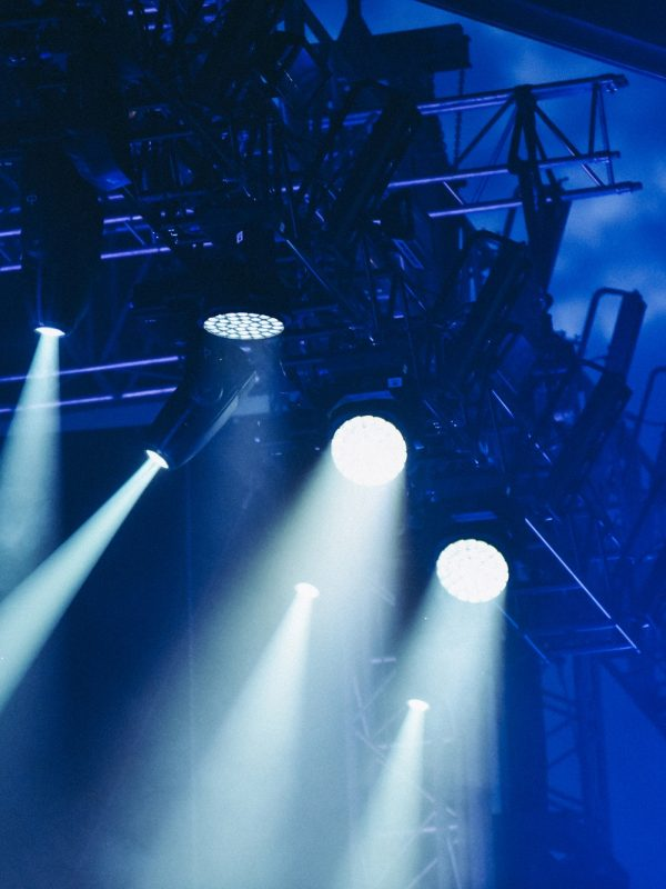 Stage lights at a live music concert